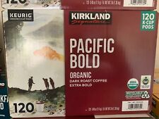 Kirkland Signature Pacific Bold K-Cups, Organic Dark Roast Coffee, 120 Count