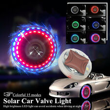 Solar Powered Car Motorcycle Wheel Tire Tyre Valve Cap Light Lamp Flash 15 Modes