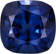 1.5 ct Blue Cushion VintageTop Russian Quality CZ Sapphire Simulant 7 x 7 mm