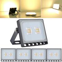 5X 10W Slim Warm White LED Flood Light Outdoor Floodlight Security Lighting 110V