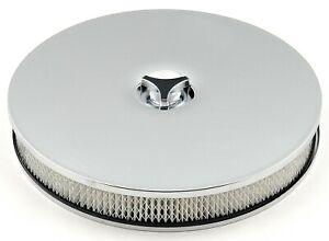 "Mr Gasket 4339 Chrome Low Rider Round Air Cleaner / Filter - 14 x 2-1/4"""