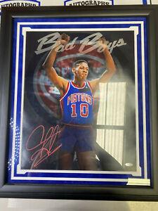 "Dennis Rodman Signed 16x20 Detroit Pistons Photo ""Bad Boys"" Framed TRISTAR COA"
