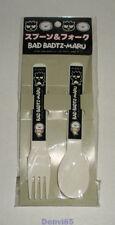 Vintage! 1996 Sanrio Badtz Maru Plastic Spoon & Fork Set from Japan! New!