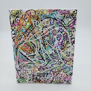 PUKE Graffiti tag Art ORIGINAL Street Outsider Pop art abstract CANVAS PAINTING
