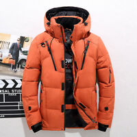 Men Winter Outdoor Hooded Ski Jacket Duck Down Jacket Snow Coat Warm Overcoat