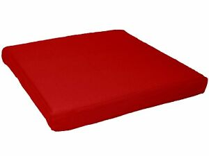 aa129t Hot Red Cotton Canvas 3D Box Square Sofa Seat Cushion Cover*Custom Size*