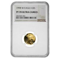 1998 W 1/10 oz $5 Proof Gold American Eagle NGC PF 70 UCAM