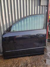 AUDI A4 2003 ESTATE N/S/F PASSENGER SIDE FRONT DOOR IN BLACK COMPLETE