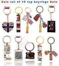 LONDON UJ KEY RINGS - ENGLAND SOUVENIRS KEYCHAIN, UJ LONDON KEYRINGS x 10 Pcs
