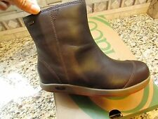 NEW CHACO DARCY WATERPROOF LEATHER BOOTS WOMENS 6 BROWN ANKLE BOOTS FREE SHIP