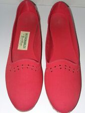 Outdorables By Daniel Green Women's Red Canvas Wedge Shoe Size 7