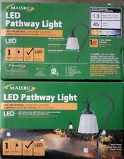 Lot-2 NEW Malibu Landscape Lighting 1.3W LED Low Voltage Pathway Pewter Lights
