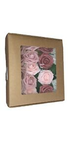 Ling's moment Natural Dusty Rose Artificial Flowers Combo for DIY Wedding Bouque
