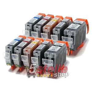 KIT 10 CARTUCCE PER CANON PIXMA MP540 MP550 MP560 MP620 MP630 MP640 MP980 MP990
