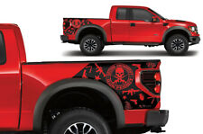 Vinyl Rear Decal Wrap AMENDMENT for Ford F-150 Raptor SVT 2010-2014 MATTE BLACK