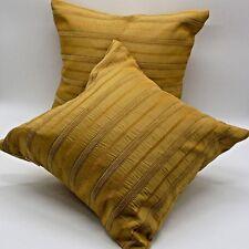 "2pcs/lot16x16""40x40cm throw pillow cover cushion case yellow beige gold chenille"