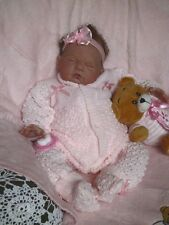 PRETTY Knit Baby Doll Outfit For Reborn PINK