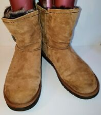 UGG AUSTRALIA Meadow 1008043 Suede + Faux Fur Ankle Boots SIZE UK 7.5 / 40