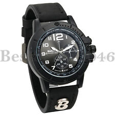 Men's Leather Dress Wrist Quartz Watch Black Leather Band Casual Analog Watches