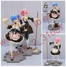 Re zero Starting Life in Another World Rem & Ram sexy maid PVC figure 2 mode nob
