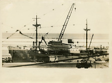 Cargo allemand Las Palmas Vintage silver print Tirage argentique  20x25  C