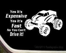 "RC Car R/C Cartoon Decal-Sticker ""Yes Its Expensive Yes Its Fast"" R/C005"
