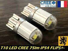 2x T10 W5W PREMIUM LED 1x CREE XB-D 75Lm 6500k PUR 12V 0,7W Compacts FLIPS IP54