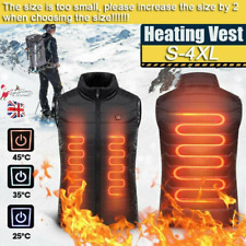 UK Electric Vest Heated Cloth Jacket USB Warm Up Heating Body Warmer Women Men