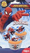 16 Mini disques en Sucre Spiderman 3 4 cm Générique