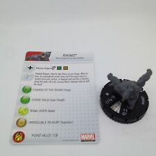 Heroclix Amazing Spider-Man set Rhino #020 Uncommon figure w/card!