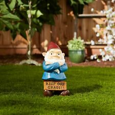New ListingCheer and Whimsy Keep Off Grass Grumpy Gnome Home And Garden Décor