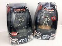 Star Wars Titanium Die-Cast Statue Imperial Sandtrooper LOT classic & silver