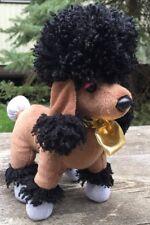 "Webkinz Rockerz Poodle Dog Plush 9"" Stuffed Animal Groovy Hm5108 Brown No Code"