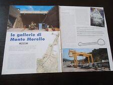GALLERIE DI MONTE MORELLO CANTIERE FERROVIA ALTA VELOCITA LINEA BOLOGNA FIRENZE