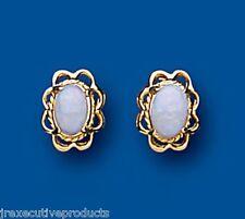 Opale orecchini opale Borchie Naturale opale Oro Giallo opale orecchini