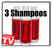 3 NUTRIFOLICA HAIR REGROWTH SHAMPOO SCALP HAIR LOSS ALOPECIA BALD SPOT TREATMENT