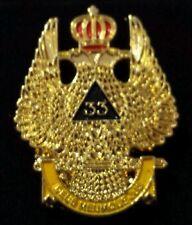 Freemason 33rd Degree Wings Up Lapel Pin
