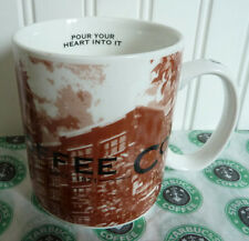 NEW 2002 STARBUCKS SEATTLE SODO HQ CITY SKYLINE MUG - POUR YOUR HEART INTO IT