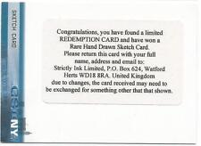 CSI New York Series 1 Sketch Redemption Card from Strictly Ink