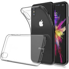 Ultra Thin Soft TPU Gel Bumper Slim Cover Transparent Case For Apple iPhone XS X