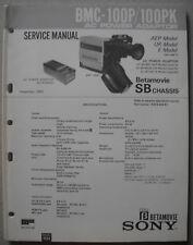SONY BMC-100P/100PK Betamovie Video Camera Service Manual inkl div Service Inf..