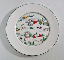 "Lenox SLEIGHRIDE 8-1/4"" Salad Plate(s) EXCELLENT w/Original Label"