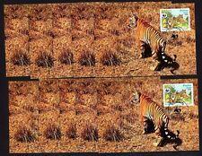 Laos 706/7 Maximumkarten Tiger , WWF , 10x Engrosposten