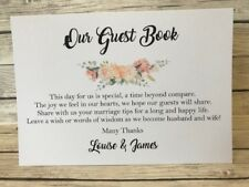 Rustic/Vintage/Shabby Chic Peach Our Guest Book Wedding Sign