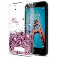 For Coolpad Defiant / REVVL Plus Case Glitter Moving Liquid Quicksand TPU Cover