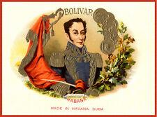 "11x14""Decoration CANVAS.Interior design art.Cuban Bolivar cigar label.6321"