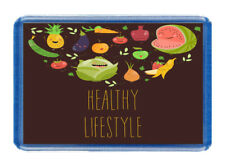 Healthy Lifestyle - FUNNY FRIDGE FREEZER MAGNET - GIFT IDEA, Vegan,Vegatarian