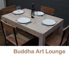 Esstisch Massivholz Weiß Gekälkt 120x80x77 Küchentisch Schreibtisch Sheesham Neu