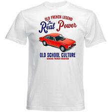 VINTAGE Francese AUTO PEUGEOT 504 COUPE-NUOVO T-shirt di cotone