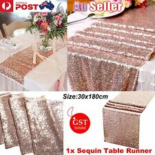 30x180cm Rose Gold Sequin Table Runner  Wedding Event Party Bling Decorat Sashes